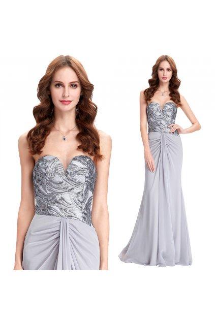 Stříbrné společenské šaty, 32 - 42