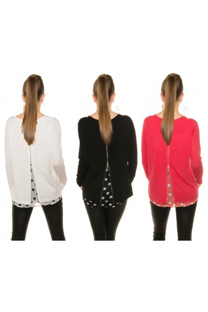 Designerské svetříky s puntíky, 5 barev, RYCHLÉ DODÁNÍ