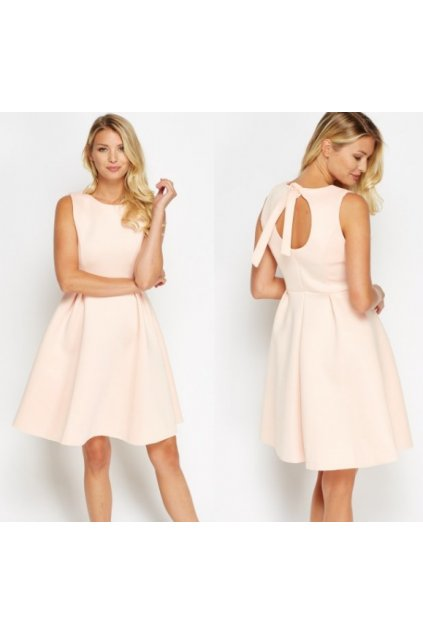 Růžové koktejlové šaty SKLADEM