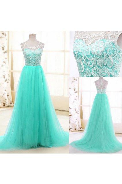 Luxusní společenské šaty s krajkou, SKLADEM