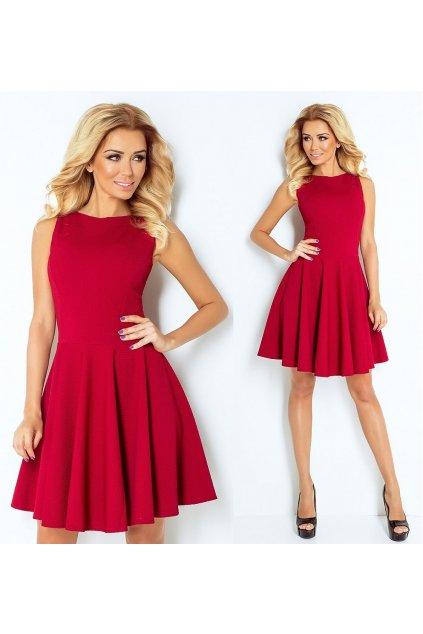 Červené společenské šaty SAF, S, M, L, XL