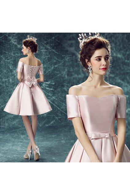 Světle růžové koktejlové šaty, SKLADEM