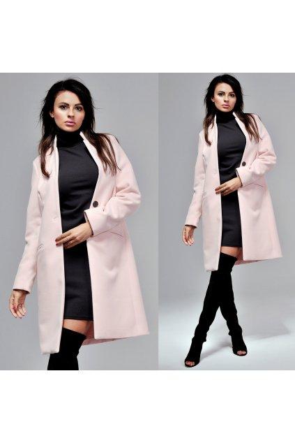 Pastelový vlněný kabát O LA VOGA, SKLADEM