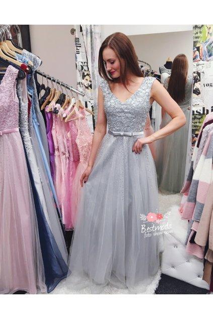 Společenské šaty Christine s jemným zdobením, k DODÁNÍ IHNED
