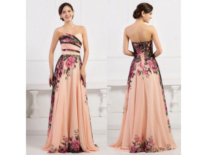 Květované společenské šaty, 32 - 44