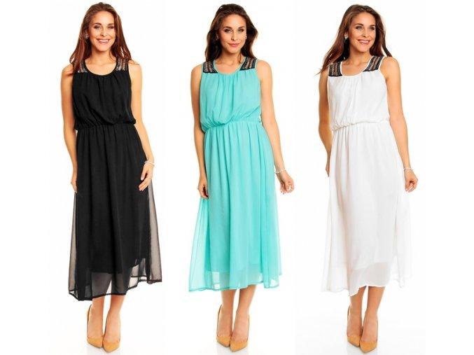 Šifonové MAXI šaty, 5 barev, S, M, L, k DODÁNÍ IHNED