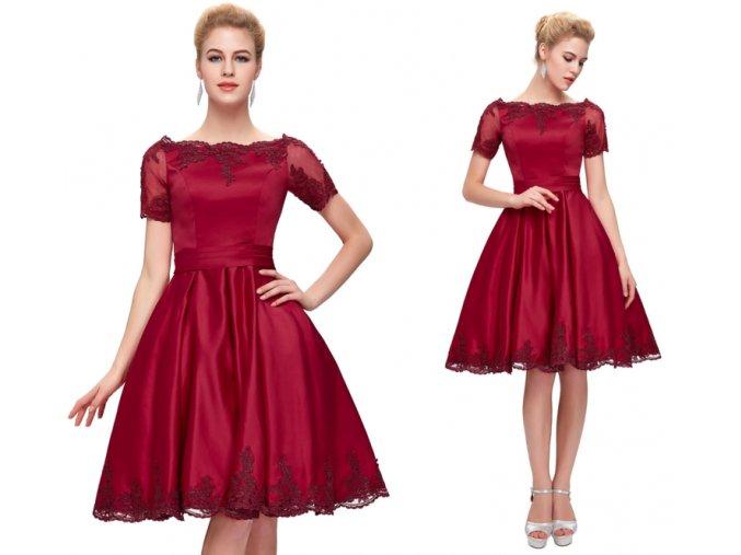 Červené koktejlové šaty Grace Karin, 32 - 44