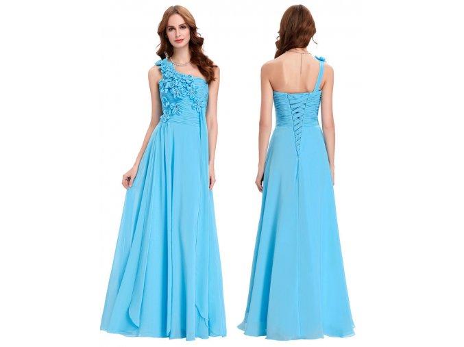 Nebesky modré šaty pro družičky, 32 - 44