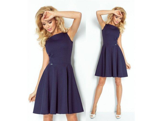 Koktejlové modré šaty SAF, S, M, L, RYCHLÉ DODÁNÍ