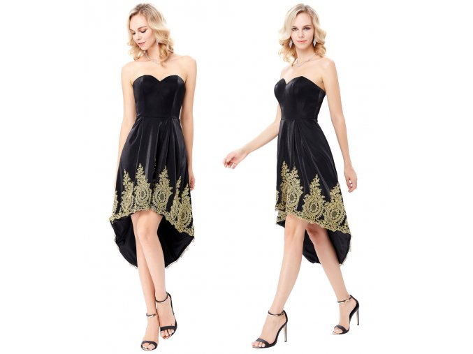 Černo-zlaté společenské šaty Grace Karin, SKLADEM