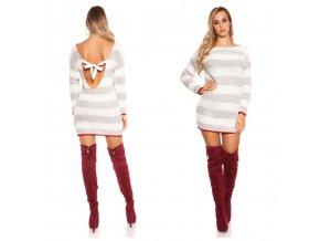 Pruhovaný svetr / svetrové šaty Koucla