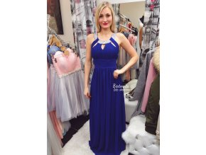 Tmavě modré společenské šaty SKLADEM