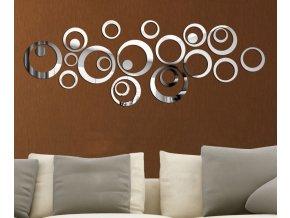 Samolepicí zrcadlová dekorace na zeď - sada 24ks