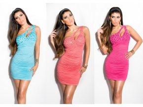 * 0000 Asymetrické bandážové šaty, 6 barev, RYCHLÉ DODÁNÍ