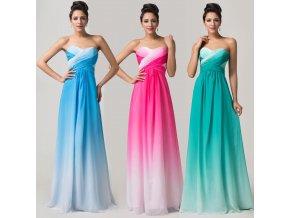 * 0000 Duhové GRADIENT šaty, 3 barevné varianty, 32,34,36,38,40,42,44,46