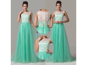 * 0000 Luxusní společenské šaty s krajkou, 32 - 46, RYCHLÉ DODÁNÍ