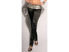* EXKLUZIVNÍ saténové kalhoty s ozdobným pasem, k DODÁNÍ IHNED