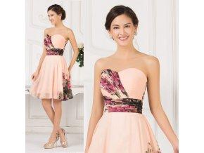 Květované koktejlové šaty, 32 - 42