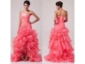 Luxusní společenské šaty s volánky, velikosti 32 - 44