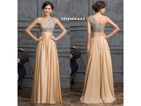 Společenské plesové šaty GOLDEN, 32 - 44