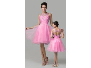 Světle růžové koktejlové šaty, 32 - 46