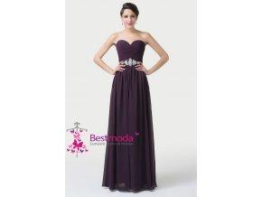 Temně fialové společenské šaty, 32 - 44
