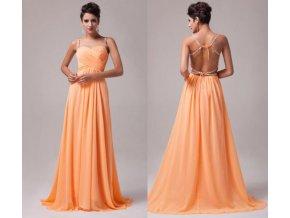 Meruňkové plesové šaty, 32 - 44