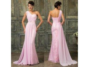 Athénské růžové společenské šaty, 32 - 44