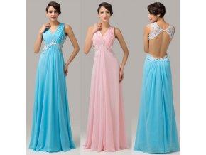 Společenské šaty, 2 barevné varianty, vel. 32 - 44