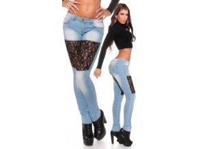SKINNY jeans KOUCLA s krajkou, XS - XL, RYCHLÉ DODÁNÍ