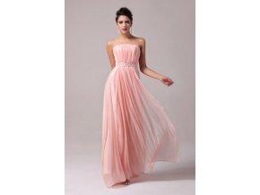 Růžové společenské šaty, 32 - 44