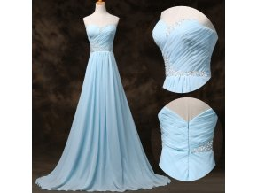 Modré společenské šaty, vel. 32 - 44