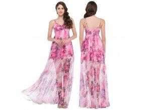Společenské květované šaty, 32 - 44