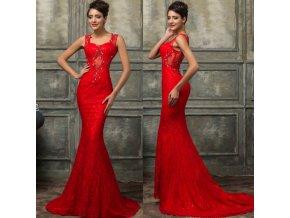 Červené společenské šaty, 32 - 44, RYCHLÉ DODÁNÍ