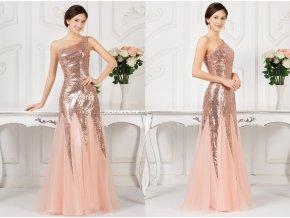 Zlaté společenské plesové šaty, 32 - 44, RYCHLÉ DODÁNÍ
