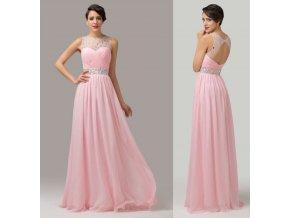 LUXUSNÍ růžové společenské šaty, k DODÁNÍ IHNED