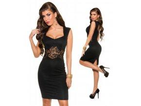 Černé pouzdrové šaty ke kolenům, XS, S, M, L, RYCHLÉ DODÁNÍ