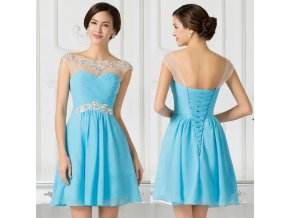 Modré koktejlové šaty, k DODÁNÍ IHNED