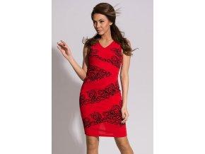 Červené šaty EMAMODA PARIS, RYCHLÉ DODÁNÍ