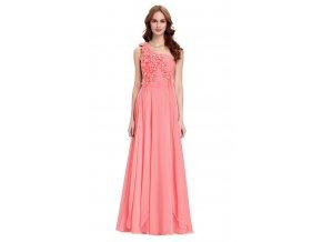Růžové šaty s květy, 32 - 44, RYCHLÉ DODÁNÍ