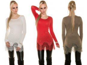 Designerské svetříky s krajkou, 5 barev, RYCHLÉ DODÁNÍ