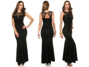 Černé společenské šaty, XS - L, RYCHLÉ DODÁNÍ