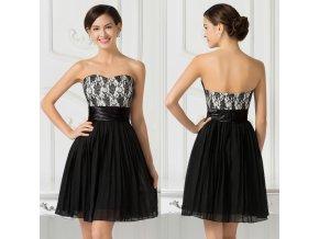 SPOLEČENSKÉ černo-bílé šaty, SKLADEM