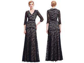 ČERNÉ krajkové společenské šaty, 32 - 44, RYCHLÉ DODÁNÍ