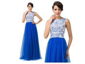 LUXUSNÍ modré společenské šaty, k DODÁNÍ IHNED