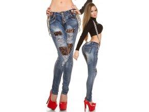 Trhané skinny jeans s kšandami, RYCHLÉ DODÁNÍ