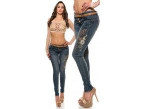 Skinny jeans s výšivkou, RYCHLÉ DODÁNÍ