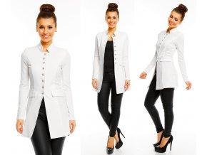 Bílý kabátek na jaro, S - XL, RYCHLÉ DODÁNÍ