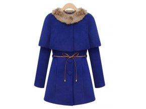 Luxusní modrý kabátek, k dodání IHNED