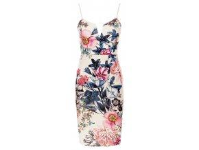Květované pouzdrové šaty, XS - L, k DODÁNÍ IHNED
